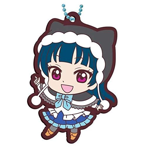 Bandai Love Live! Sunshine!! Yoshiko Tsushima Winter Ver. Character Gacha Capsule Rubber Mascot Key Chain Collection Vol.12 Anime Art ()
