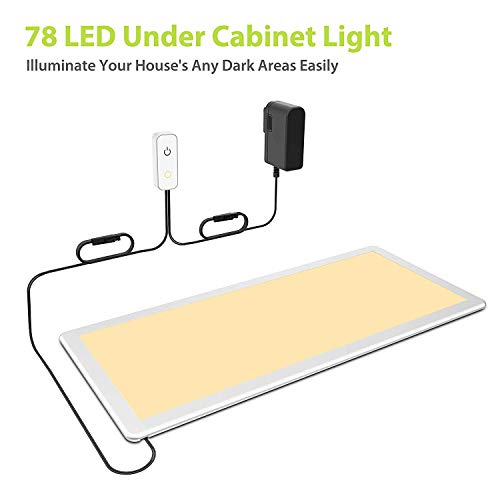 Under Cabinet Light, OxyLED Dimmable Under Counter Lighting, Extra Large LED Panel Light for Kitchen Closet, Art Studio, Attic, Office,Cupboard (12W, 750lm, Warm White 3000K) ()