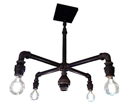 Amazon Com Black Pipe Chandelier 4 Light Industrial Fixture Handmade