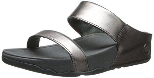 FitFlop Women's Lulu Slide Sandal,Pewter,11 M US