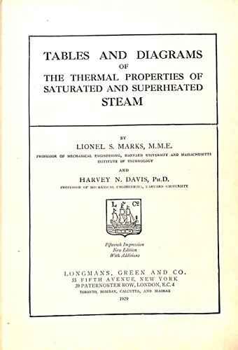 Tables and diagrams of the thermal properties of saturated and superheated steam