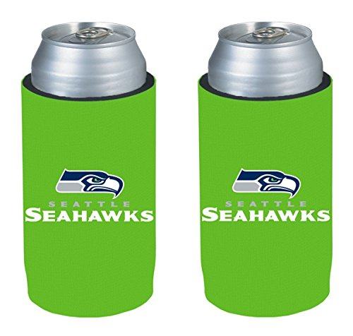 NFL 2013 Football Ultra Slim Beer Can Holder Koozie 2-Pack - Pick your team (Seattle Seahawks - (Seattle Seahawks Team Fan)