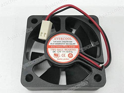 Ayazscmbs Compatible para EVERCOOL EC5015SL12B DC12V 0.07A 50 ...