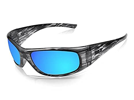 310c27b6d06 Image Unavailable. Image not available for. Color  ICICLES Agent Blue  Mirror Lens Sunglasses with Liquid Black Frame Color