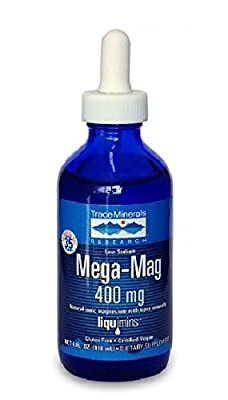 Trace Minerals Research LMM01 - Mega-Mag Liquid Magnesium, 4 Ounce (Pack of 3)