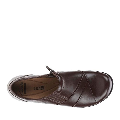 Clark Womens Channing Come Mocassino In Pelle Marrone