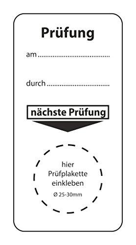 """Grundplakette für""""nächste Prüfung"""", verschiedene Staffelungen, Größe: 40 x 80 mm, zur Terminkontrolle für Maschinen, für Prüfplaketten ⌀ 25-30 mm, Qualitätsstandards einhalten, hin_249"""