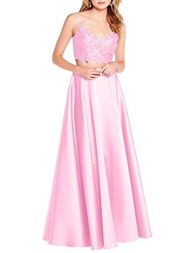 Beauty S068 Piece Ballgown Neckline Evening Pink Two Party Prom Bridal Dress Dresses vHwSnrEvq