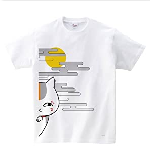 夏目友人帳 フルカラーTシャツ ニャンコ先生チラ見 サイズ:M
