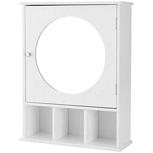 Bathroom Cabinet Wall Mount - Mirrored, White