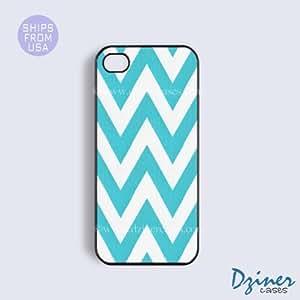 LJF phone case iphone 6 4.7 inch Tough Case - Aqua Chevron iPhone Cover