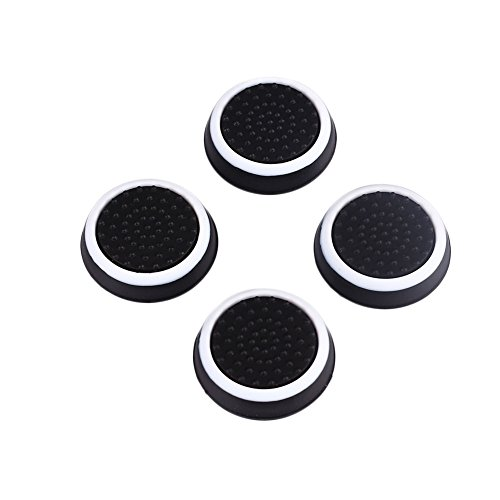 Cewaal 4Pcs Controller Gamepad Joystick Thumb Stick Silicone Grip Caps Protector Cover For PlayStation PS3 PS4 - Ps3 Hardware