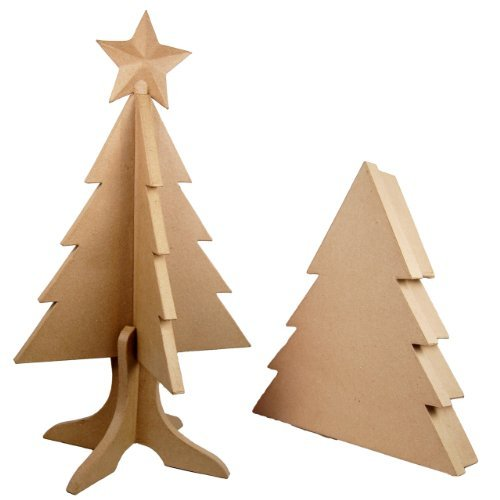 Country Love Crafts Foldable Christmas Tree with Box Papier Mache by Country Love Crafts Papier Mache by Country Love Crafts Papier Mache