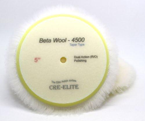 【G7/ライトポリッシング】CRE-ELITE BetaWool-4500 研磨 ポリッシュ ポリッシャー ウールバフ 車磨き ポリッシング ギアアクション ダブルアクション バフ [毛:4000(ミディアムソフトウール20mm)/サイズ:5インチ(130mm)]