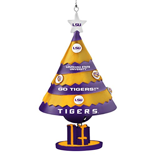 NCAA LSU Tigers Tree Bell Ornament