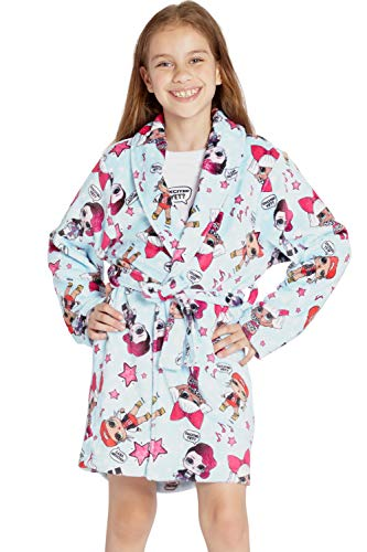 LOL Surprise! 'Excited Yet?' Glam Girl Pajama Robe, Light Blue, S