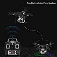 Nesee RC Quadcopter 1080P Wide Angle Lens 270 Degree Rotating HD Camera Drone FPV Gift