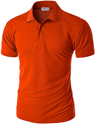 Doublju Mens Short Sleeve Polo Shirt