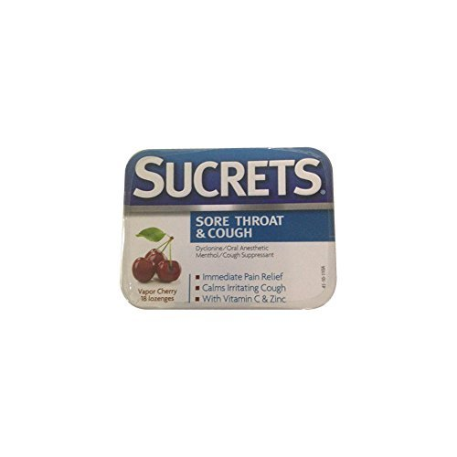 Sucrets Sore Throat & Cough Vapor Cherry 18 Each