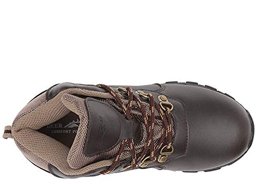 Deer Stags Boys' GORP Hiking Boot, Dark Brown/Taupe, 2 Medium US Little Kid