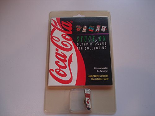 Coca-Cola Stuck On Olympic Games Hockey Polar Bear Commemorative Pin with collector's guide (1995)