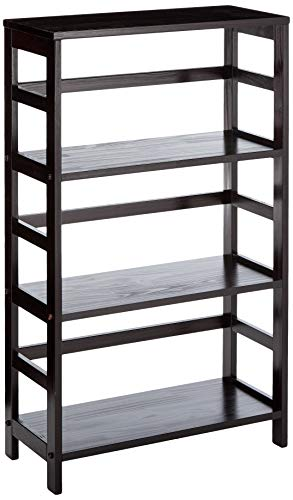 Winsome Wood 92425 Leo Model Name Shelving, Small, Espresso (Wood Storage Unit)