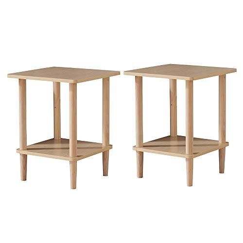 HOIHO Wooden Side Table Nordic Small End Coffee Hallway for sale  Delivered anywhere in USA