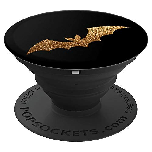Cool Black Gold Scary Vampire Bat Halloween Pop Mount Socket - PopSockets Grip and Stand for Phones and Tablets -
