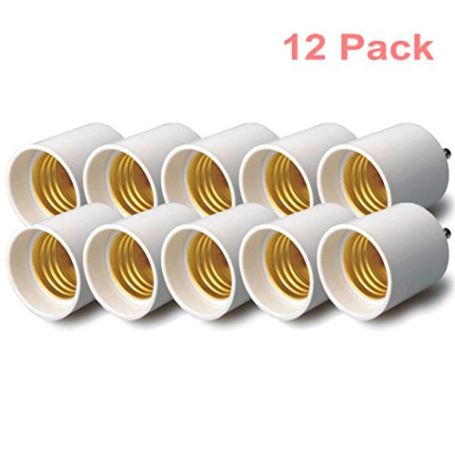 GYBest 12-Pack GU24 to E26 Adapters - Converts (GU24) to (E26/E27) - Christmas Promotion
