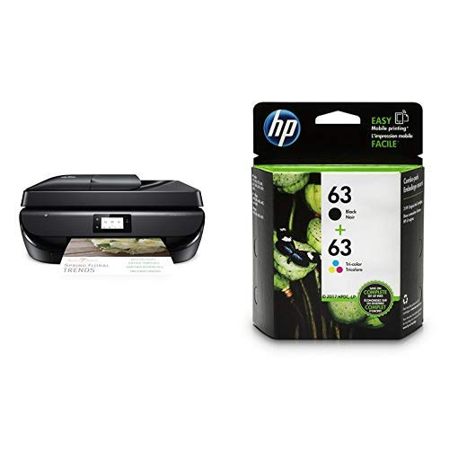HP OfficeJet 5255 Wireless All-in-One Printer, HP Instant Ink & Amazon Dash Replenishment ready (M2U75A) with Std Ink Bundle