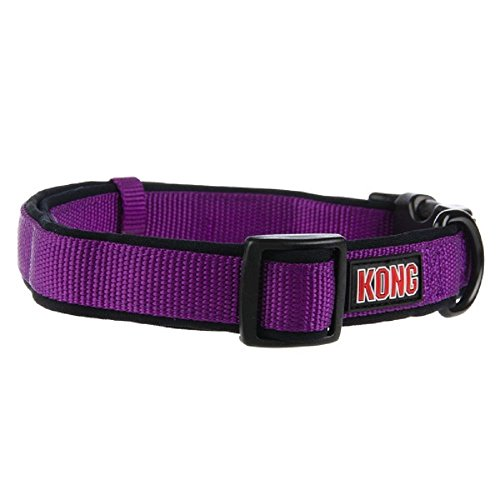 Kong Padded Dog Collar Small Purple