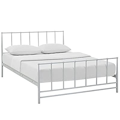 Modway Estate Metal Platform Bed - Sizes: Twin Full Queen King -  - bedroom-furniture, bed-frames, bedroom - 41QjuvzouiL. SS400  -
