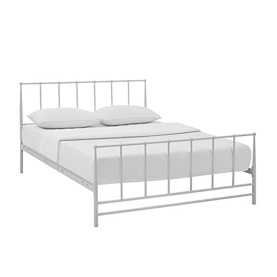Modway Estate Steel Metal Twin Platform Bed With Metal Slat Support in Brown -  - bedroom-furniture, bedroom, bed-frames - 41QjuvzouiL. SS570  -