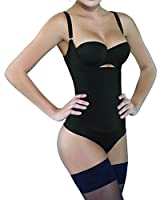 Camellias Seamless Firm Control Shapewear Open bust Bodysuit Body Shaper Black