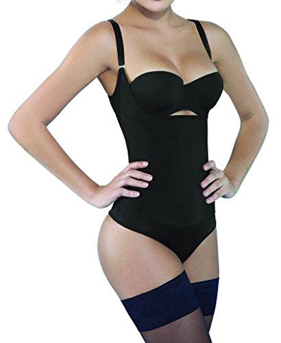 f90d925534 Camellias Seamless Firm Control Shapewear Open bust Bodysuit Body Shaper  Black