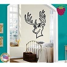 Wall Stickers Vinyl Decal Nursery Deer Moose Elk Funny Animals For Kids ig775