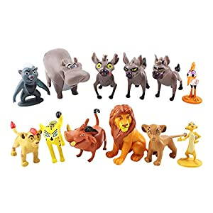 """Best Epic Trends 41QjwOgi5AL._SS300_ 12 Pcs/Set The Lion King Action Figures Toys 1.4""""~2.1"""" Tales of Mufasa & Simba Perfect The Lion King Cake Topper Decorations Toy Set"""