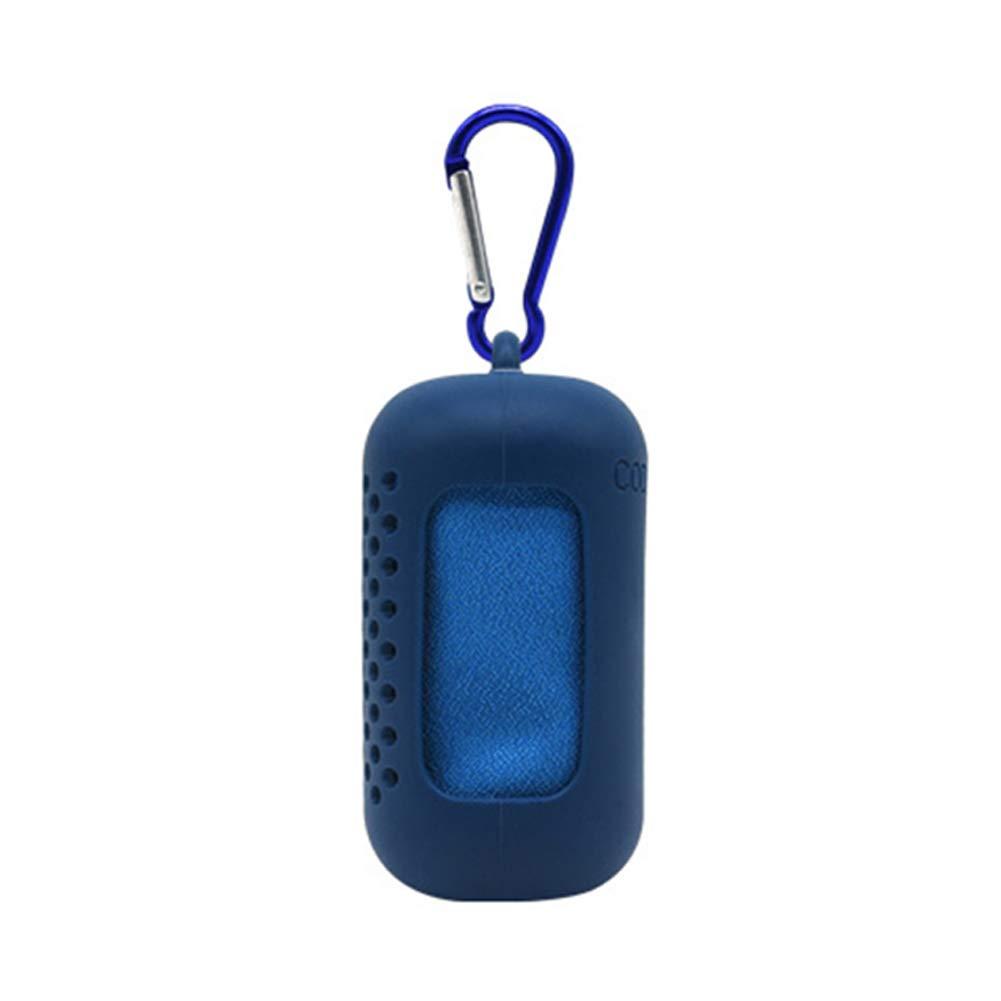 Large Microfibra Azul ChanYYw Aire Libre Alfombra port/átil de Microfibra comprimida Correr Gimnasio Fitness Secado r/ápido Toalla de refrigeraci/ón con Funda de Silicona