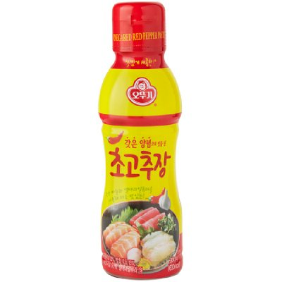 - Hot Pepper Paste, Red Chili Paste with Vinegar, Chogochujang; 오뚜기 초고추장, 500g 1EA
