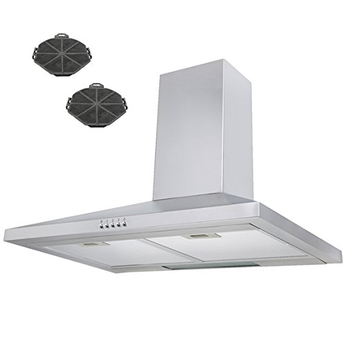 SIA 70cm Stainless Steel Chimney Cooker Hood Extractor Recirculation Filters