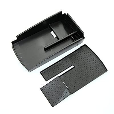 JessicaAlba Armrest Center Console Secondary Storage Box Tray Utility Black for Volkswagen Passat CC 2009-2015: Automotive