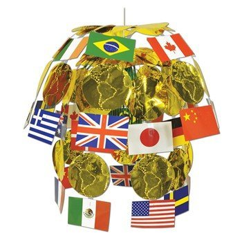 [International Flag Cascade Party Accessory (1 count) (1/Pkg)] (Easy Around The World Costumes)