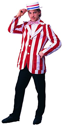 Mens SM (34-36)- Red/ White- Roaring 20s Blazer