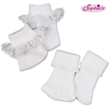 9ecc9ac761aaf Sophia's Doll Ankle Sock Set, Fits 18 Inch American Girl Dolls, Two Pair  Sock Set