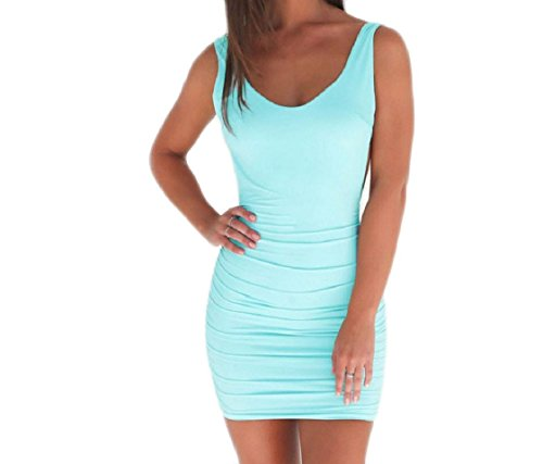 Slip Package Draped Backless Bandage Dress Hip Solid Blue Women's Coolred 5nUOwq7O