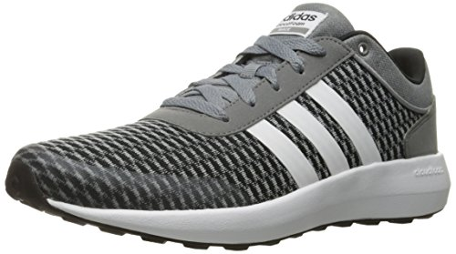 (adidas Men's Cloudfoam Race Running Shoe Black/White/Grey 12 D -)