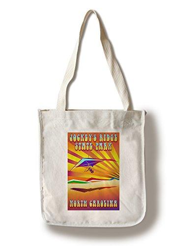 Lantern Press Jockey's Ridge State Park, North Carolina - Psychedelic Hang Glider (100% Cotton Tote Bag - Reusable)