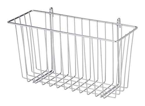 Honey-Can-Do SHF-04056 Steel Wire Accessory Basket, Chrome, 13.39L x 5W x ()