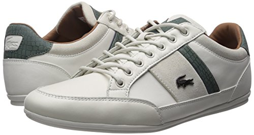 Lacoste Men's Chaymon 417 1 Sneaker, Off White/Green, 12 M US