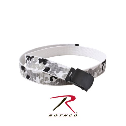 Rothco Camo Reversible Web Belt, City Camo / White, 54 Inches